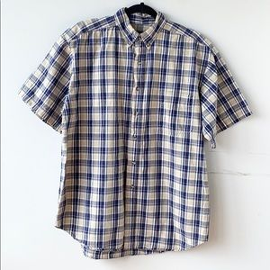 Route 66 Short Sleeves Button Front Plaid Shirt